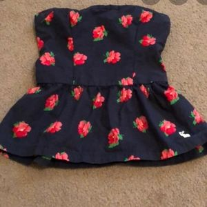 Vintage Abercrombie & Fitch Strapless Floral Top